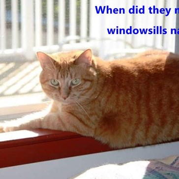 When did they make the windowsills narrower?