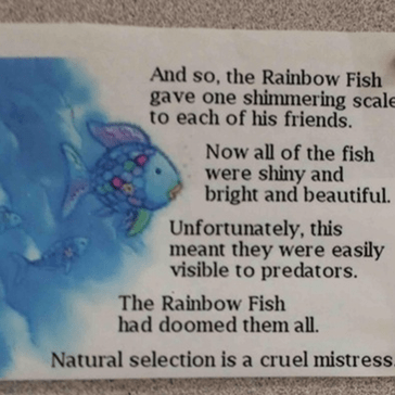 Except for Rainbow Fish, Who Was Smart Enough to Eliminate the Competition