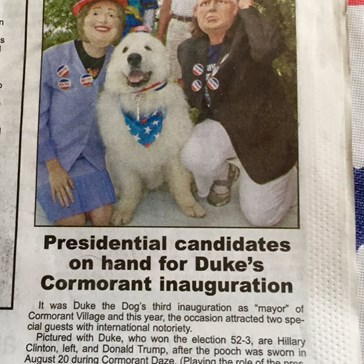 Duke the Dog Re-Elected as Mayor for the Third Year in a Row