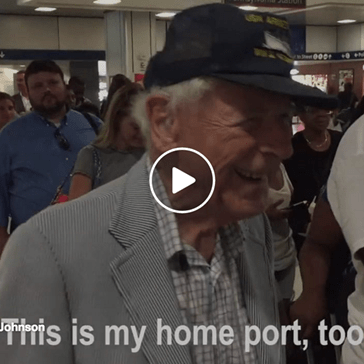 Watch The Way This Young Amtrak Worker Honors a 99 Year Old WW2 Veteran