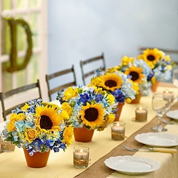 Buy Fresh Sunflower Wedding Centerpieces Online For Sale