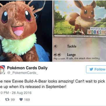The New Eevee Build-A-Bear Demands Your Love and Affection