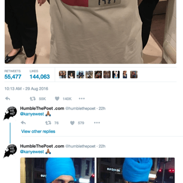 Kanye Celebrates Squashing the Fabricated West/Swift Beef For Unity in This Clever Shirt