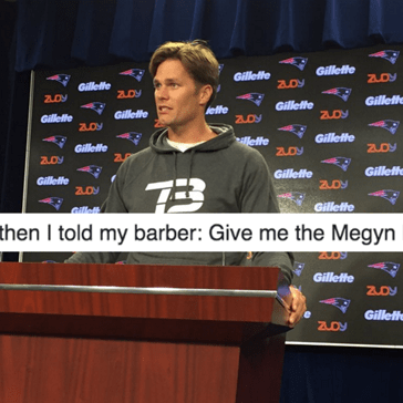 Tom Brady Shows Up For a Press Conference Addressing His Suspension and the Only Thing the Internet Cares About is His New Haircut