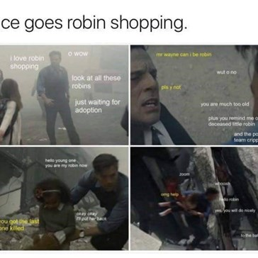 Nothing Quite Gets Bruce Wayne Going, Like Robin Shopping