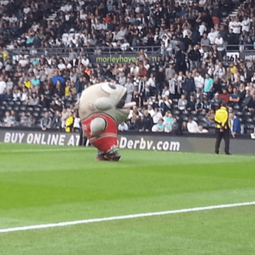 Massive Inflatable Fish Attacks Guy During Half-Time Show, To The Tune of 'Eat It'