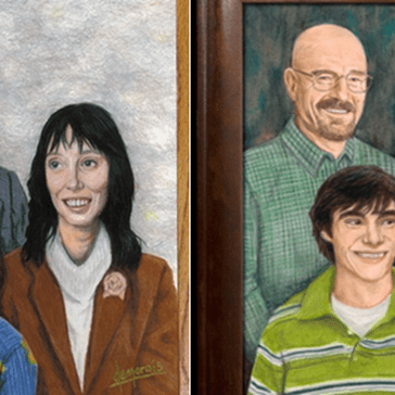These Awkward Family Portraits of Movie and TV Families Belong In Your House
