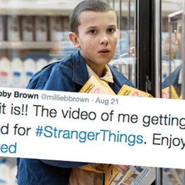 'Stranger Things' Star Millie Bobby Brown Shared a Video of Her Shaving Head to Become Eleven