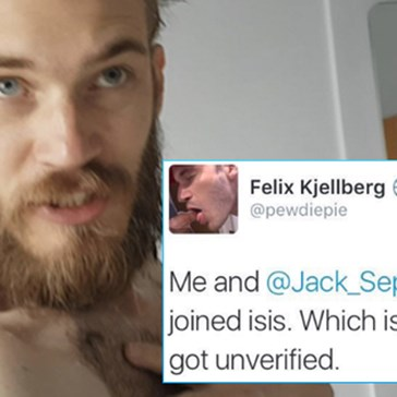 PewDiePie's Twitter Gets Suspended After Fans Freak Out Over ISIS Tweet