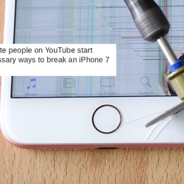 YouTubers are Already Breaking the iPhone 7