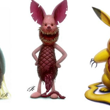This Artist Reimagines Your Childhood Favorites as Traumatizing Nightmare Fuel