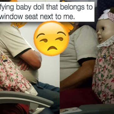 The Creepy Factor of Spending an Entire Flight Sat Next to a Creepy Doll is Palpable While a Woman Live-Tweets It