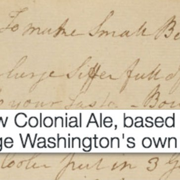 Here's Your Chance to Taste George Washington's Recipe for Beer