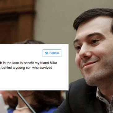 Martin Shkreli Is Staging an Auction to Let One Very Lucky Person Punch Him in the Face, and the Internet's Already Fired Up