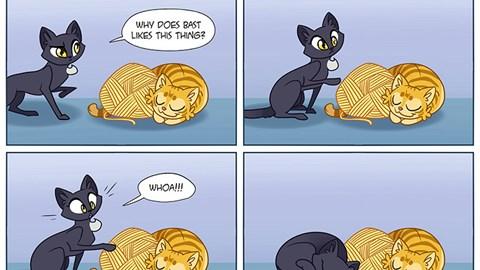 adorable cat comcis