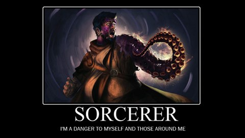 Funny dungeons and dragons demotivational posters.