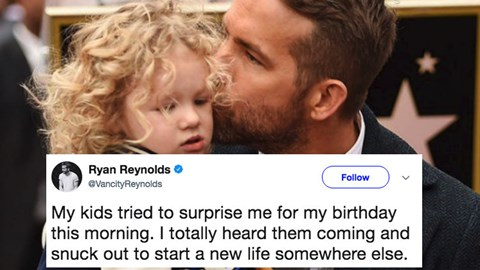 Ryan Reynolds has funny tweet about wanting to start a new life on his 41st birthday.