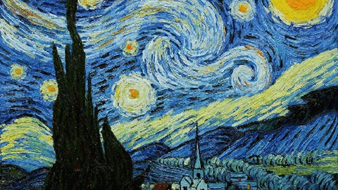 starry starry night tardis Vincent van Gogh - 8275395584