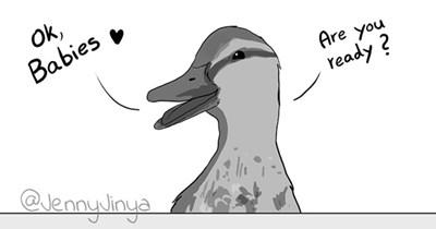 duck duckling death comic heartbreaking tearjerker jenny jinya