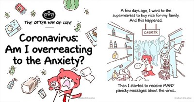 otter comic coronavirus infographic helpful | art comic illustration drawing OTTER WAY LIFE Coronavirus: Am overreacting Anxiety robert..otter few days ago went Supermarket buy rice my family. And this happened. CASHIER Then started receive MANY panicky messages about virus robert..otter