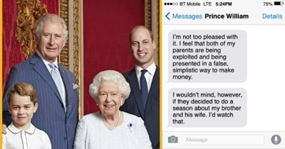 royal family reveal what they really think about 'The Crown' | thumbnail includes image of royal family Text - p00 BT Mobile LTE 5:24PM 75% Messages Prince William Details I'm not too pleased with it. I feel that both of my parents are being exploited and being presented in a false, simplistic way to make money. I wouldn't mind, however, if they decided to do a season about my brother and his wife. I'd watch that. iMessage