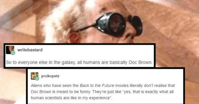 A funny Tumblr post about how humans are totally reckless in the Star Trek universe.