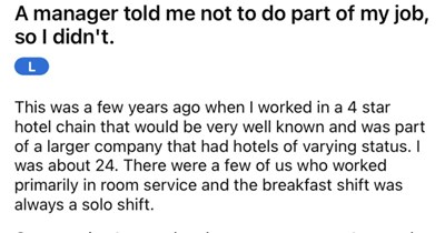 Incompetent manager on a power trip tells their employee to not do their job, and it backfires terribly.