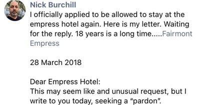 An entertaining Facebook post about the absolute worst hotel guest of all time.