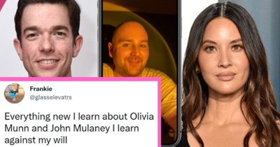 John Mulaney And Olivia Munn Alleged Breakup Leaked By Sweaty Man On TikTok  thumbnail text - Everything new I learn about Olivia Munn and John Mulaney I learn against my will 11:43 AM · Oct 23, 2021 · Twitter for iPhone 2,993 Retweets 108 Quote Tweets 35.4K Likes