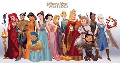 disney Game of Thrones disney princesses fandom crossovers Westeros asoiaf - 198405