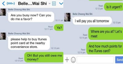 Guy trolls scammer that tries to get him to send him all his codes for iTunes gift cards.