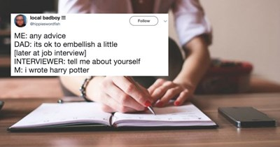 Tweets about different job interview questions that are painfully relatable to everyone at some point or another.