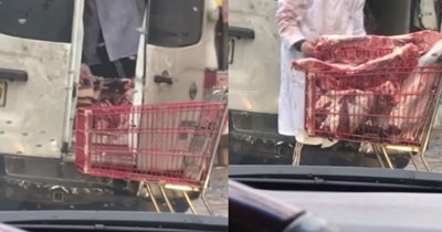gross vegan food Video meat - 400902