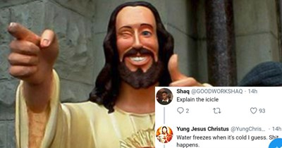 Jesus is explaining stuff on Twitter and the results are hilarious combination of trolling and humor.