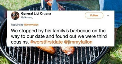 People share their worst first date stories on Twitter that will make you cringe your face off.