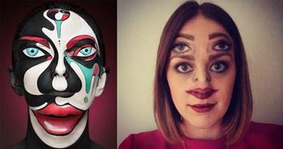 makeup insane makeup skills wtf cosplay wtf makeup halloween creepy makeup makeup skills colorful artistic cosplay makeup - 5687813