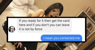 scammer woman credit card trolling nudes scam texting funny money - 5975301
