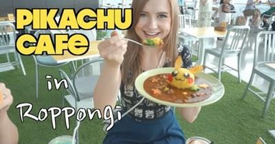 pikachu cafe Japan food Video - 63351553