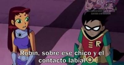 romance Robin y Starfire