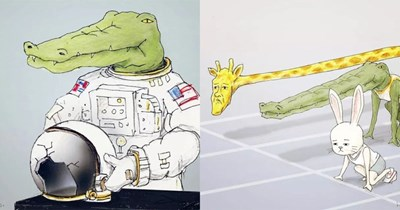lizards crocodile alligator animal pics animal drawings triggered funny drawings funny animals animals doing human things playing the guitar - 6528517