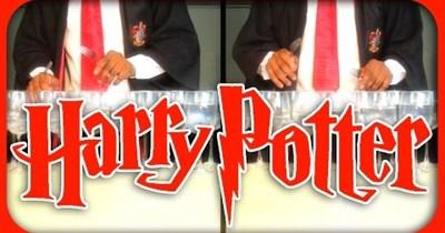 Music Harry Potter wine glass Video - 65837825