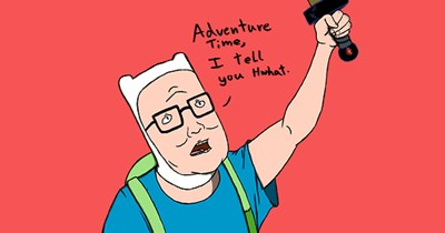 crossover Fan Art King of the hill cartoons adventure time - 6843899392