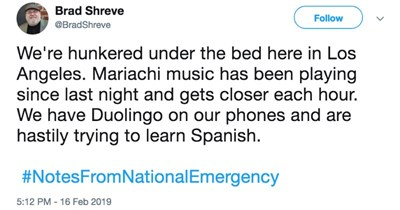 twitter national emergency donald trump trump tweets funny tweets funny twitter wall - 7764229