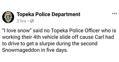 Topeka topeka police Kansas funny tweets lawrence police funny twitter funny police - 7781893