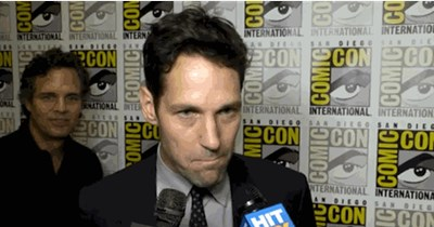 gifs San Diego Comic Con 2014 paul rudd celeb funny - 8271254784