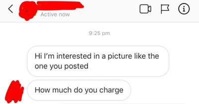 choosing beggar looking for free services and acting offended when asked to pay