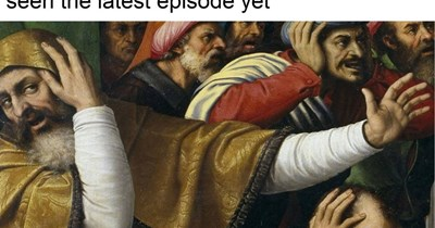 classical painting of men covering their ears ahhh cant hear you When you overhear people talking about Game of Thrones in public but you haven't seen the latest episode yet