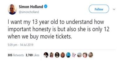 parenting tweet