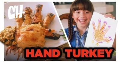 Funny video from College Humor imagining if hand turkeys were an actual Thanksgiving food.