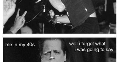 Funny meme about getting older using Danzig lyrics.